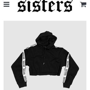 Tops - Sisters apparel downtown cropped hoodie